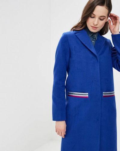 Синее пальто с капюшоном Grand Style