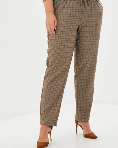 Коричневые зауженные брюки Intikoma