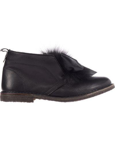 Кожаные ботинки осенние черные Pokemaoke