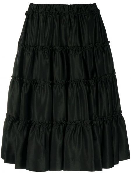 Шерстяные черные шорты с высокой посадкой с потайной застежкой Comme Des Garçons Noir Kei Ninomiya