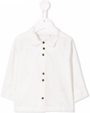 Biała koszula bawełniana z długimi rękawami Little Creative Factory Kids