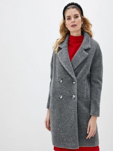 Серое пальто с капюшоном Sultanna Frantsuzova