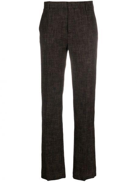 Шерстяные черные плиссированные брюки со складками Ports 1961