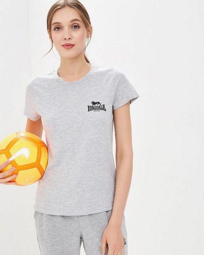 Серая футболка Lonsdale