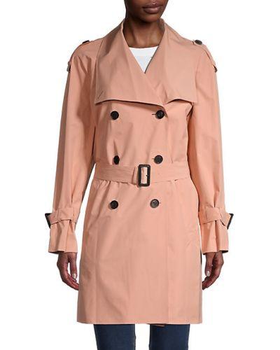 Черное длинное пальто двубортное с поясом Mackage