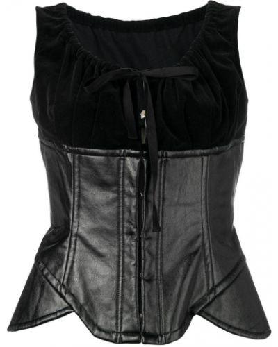 Черное бюстье винтажное Comme Des Garçons Pre-owned