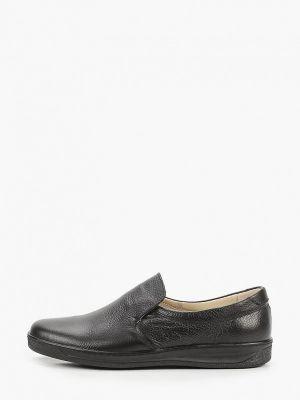 Кожаные слипоны - черные Valser