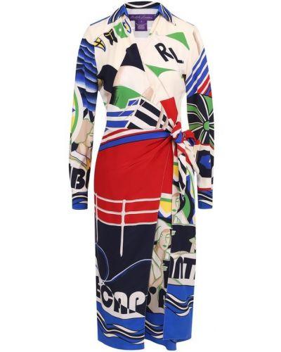 Платье миди с запахом с принтом Ralph Lauren