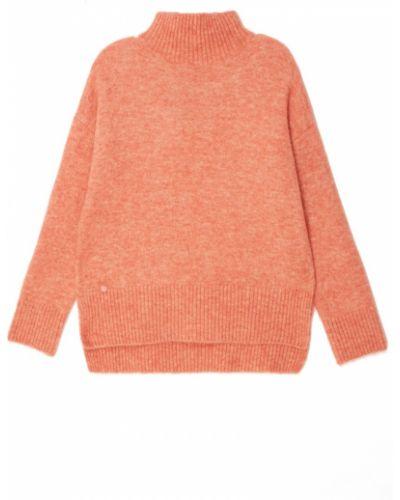 Шерстяной вязаный длинный свитер с воротником Adolfo Dominguez