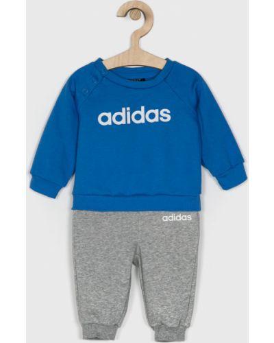 Спортивный костюм прямой синий Adidas Performance