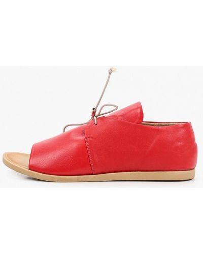 Кожаные красные босоножки Tuffoni