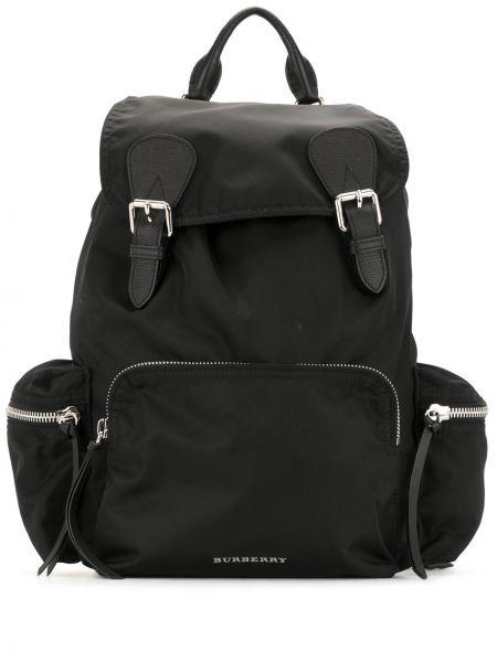 Черный нейлоновый стеганый рюкзак с пряжкой Burberry Pre-owned