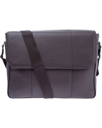 Кожаная сумка мессенджер на молнии Canali