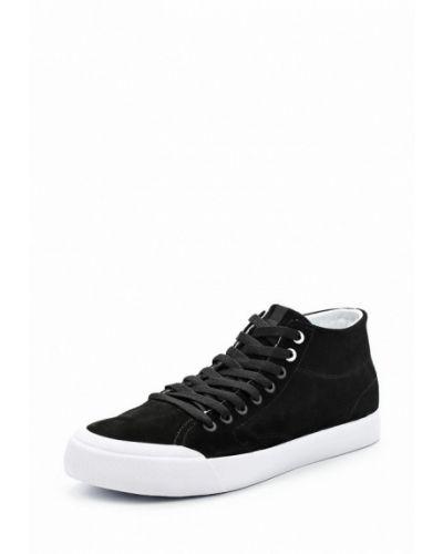 Черные замшевые высокие кеды Dc Shoes