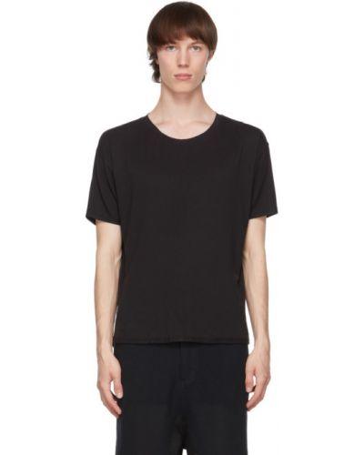 Czarny t-shirt bawełniany krótki rękaw Blackmerle