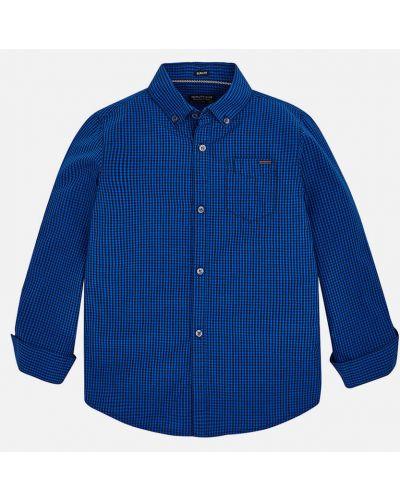 Рубашка с узором в клетку Mayoral