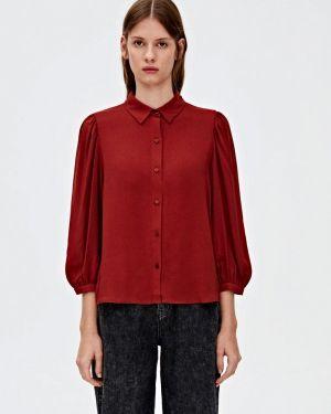 Блузка с длинным рукавом красная Pull&bear