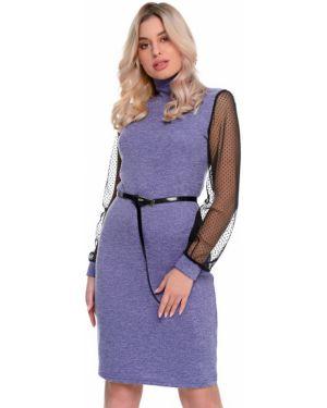 Деловое платье в горошек сетчатое Nikol