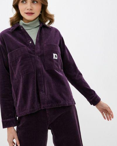 Фиолетовая рубашка с длинными рукавами Carhartt