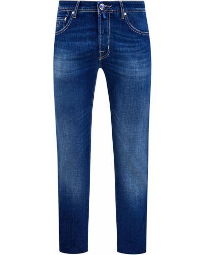 Хлопковые синие джинсы с поясом Jacob Cohen