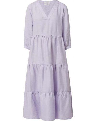 Fioletowa sukienka z falbanami Christian Berg Women