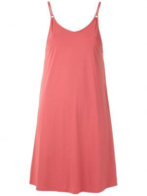 Тонкое розовое платье на бретелях с вырезом Lygia & Nanny