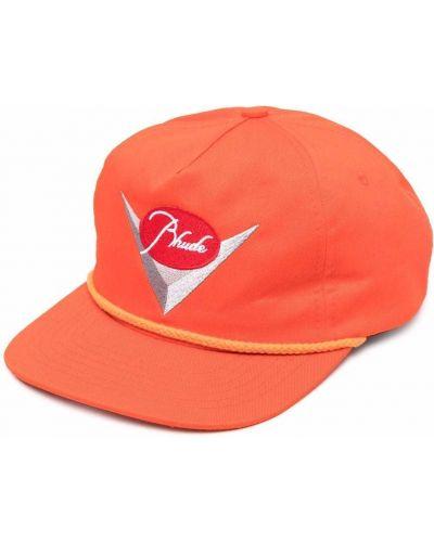 Pomarańczowa czapka z haftem Rhude