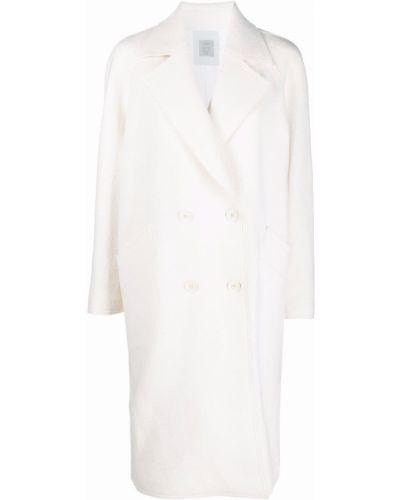 Белое пальто до колена Eleventy