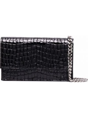 Черная сумка из крокодила Casadei