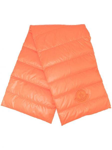 Оранжевый шарф с декоративной отделкой с гусиным пухом Moncler