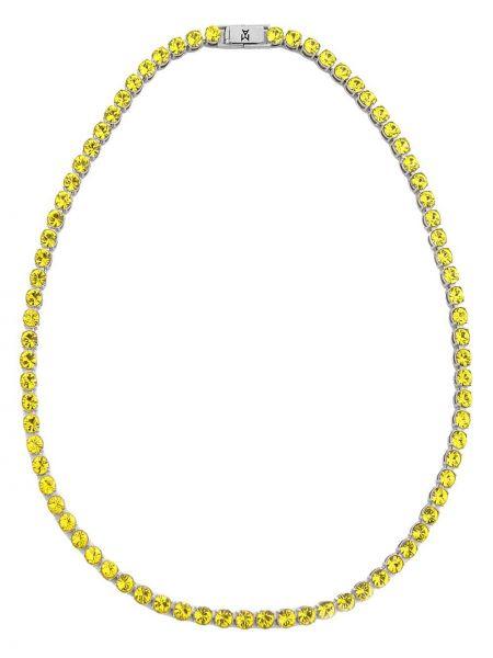 Ожерелье - желтое Amina Muaddi