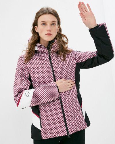 Розовая куртка горнолыжная Ea7
