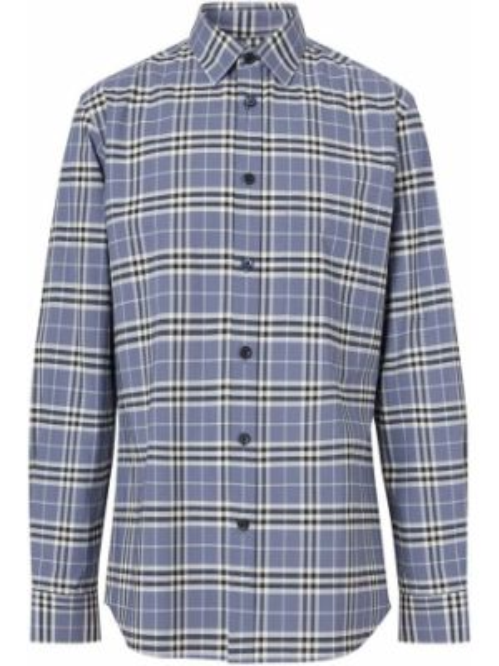 Koszula z długim rękawem klasyczna niebieski Burberry