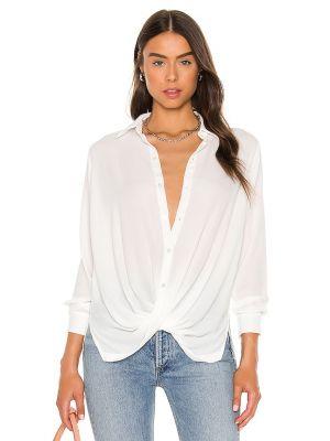 Белая блузка на пуговицах Krisa