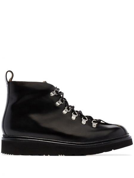 Черные кожаные ботинки Grenson