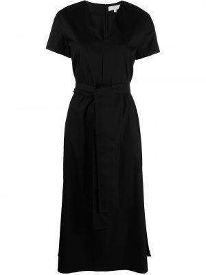 С рукавами черное платье миди с вырезом Antonelli