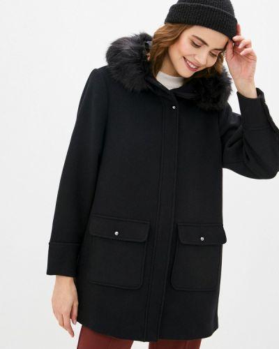 Черное пальто Violeta By Mango
