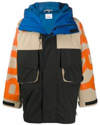 Długa kurtka z długimi rękawami z printem Burberry
