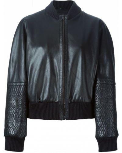 Кожаная куртка на пуговицах черная Jil Sander Pre-owned