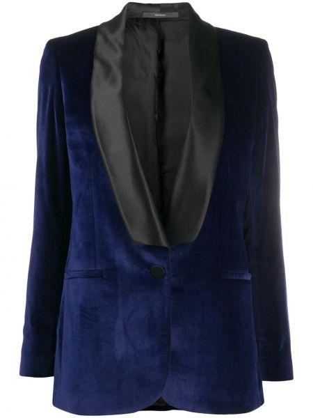 Шерстяной синий пиджак с карманами Paul Smith
