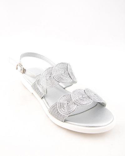Текстильные серые туфли Stefaniya Nina