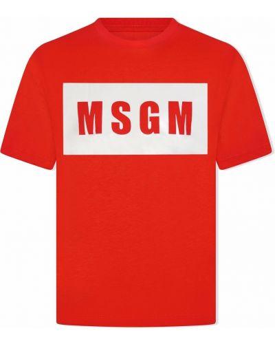 T-shirt bawełniana Msgm Kids