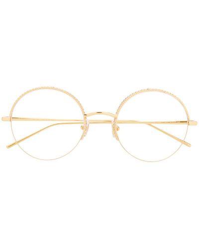 Желтые очки круглые Boucheron Eyewear