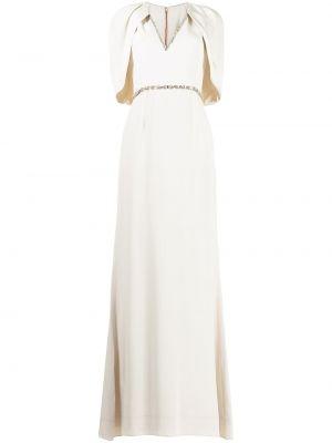 Biała sukienka z dekoltem w serek Jenny Packham