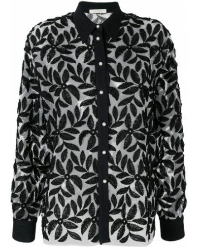 Классическая черная классическая рубашка на пуговицах Mantu
