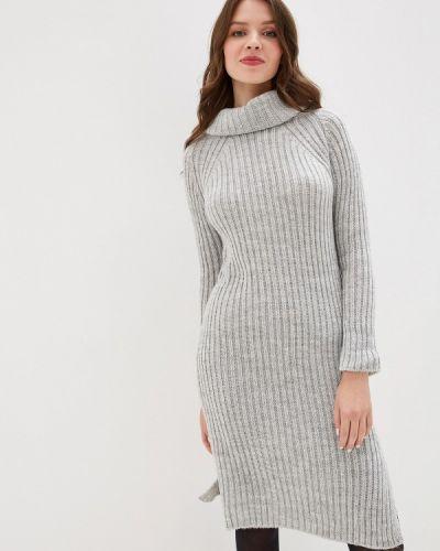 Платье серое вязаное Perfect J