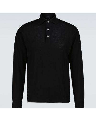 Klasyczna niebieska lniana koszula Lardini