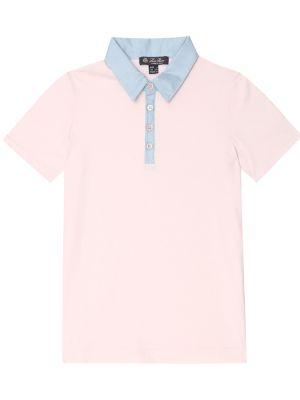 Klasyczna różowa koszula bawełniana Loro Piana Kids