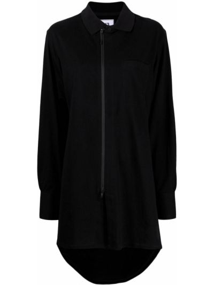 Хлопковая черная рубашка с длинными рукавами Y-3