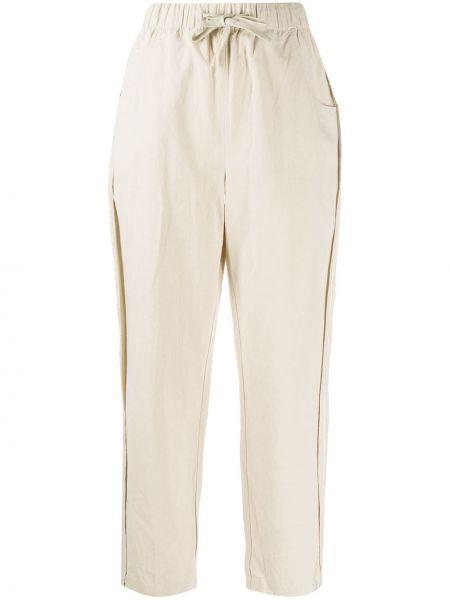 Хлопковые прямые брюки с поясом Folk